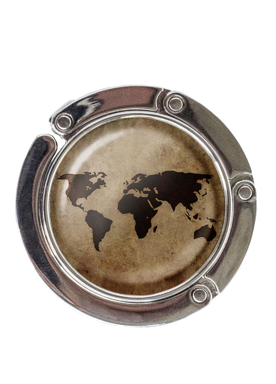 Сумкодержатель DM 01 Карта мира коричневый SKL47-176875
