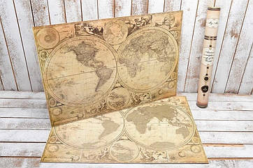 Скретч карта Мира My Maps Special на Английском в тубусе