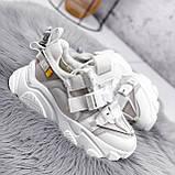 Кроссовки женские Giles белые с серым ЗИМА 2479, фото 7