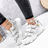 Кроссовки женские Giles белые с серым ЗИМА 2479, фото 8