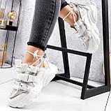 Кроссовки женские Giles белые с серым ЗИМА 2479, фото 9