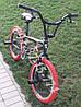 ⭐✅ BMX Велосипед Crosser VSP Cobra Чорний 20 Дюймів для різних трюків Червоні покришки, фото 2