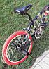 ⭐✅ BMX Велосипед Crosser VSP Cobra Чорний 20 Дюймів для різних трюків Червоні покришки, фото 4
