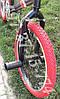 ⭐✅ BMX Велосипед Crosser VSP Cobra Чорний 20 Дюймів для різних трюків Червоні покришки, фото 7
