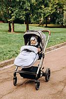Конверт зимовий дитячий в коляску універсальний для усіх колясок. Cірого кольору