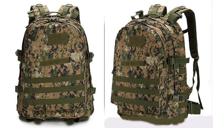 Тактический (военный) рюкзак Raid с системой M.O.L.L.E Тем. Пиксель (601)