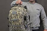 Тактический (военный) рюкзак Raid с системой M.O.L.L.E Тем. Пиксель (601), фото 5