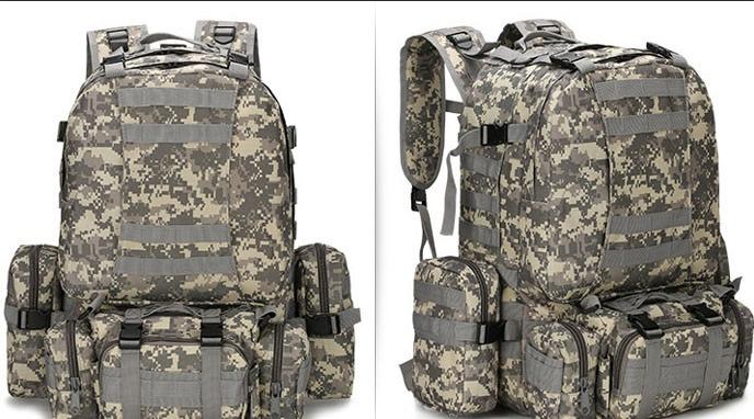 Тактический Штурмовой Военный Рюкзак с подсумками на 50-60 литров Пиксель (1004 пиксель)