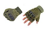 Тактические перчатки Oakley (Беспалый). - Khaki L (25659 L), фото 2