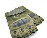 Тактические перчатки Oakley (Беспалый). - Khaki L (25659 L), фото 3
