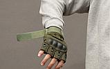 Тактические перчатки Oakley (Беспалый). - Khaki L (25659 L), фото 4