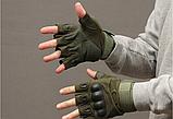 Тактические перчатки Oakley (Беспалый). - Khaki L (25659 L), фото 6