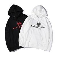Худи Balenciaga черное, белое, унисекс (мужское, женское, детское)