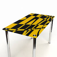 Стол обеденный из стекла модель Абстракция