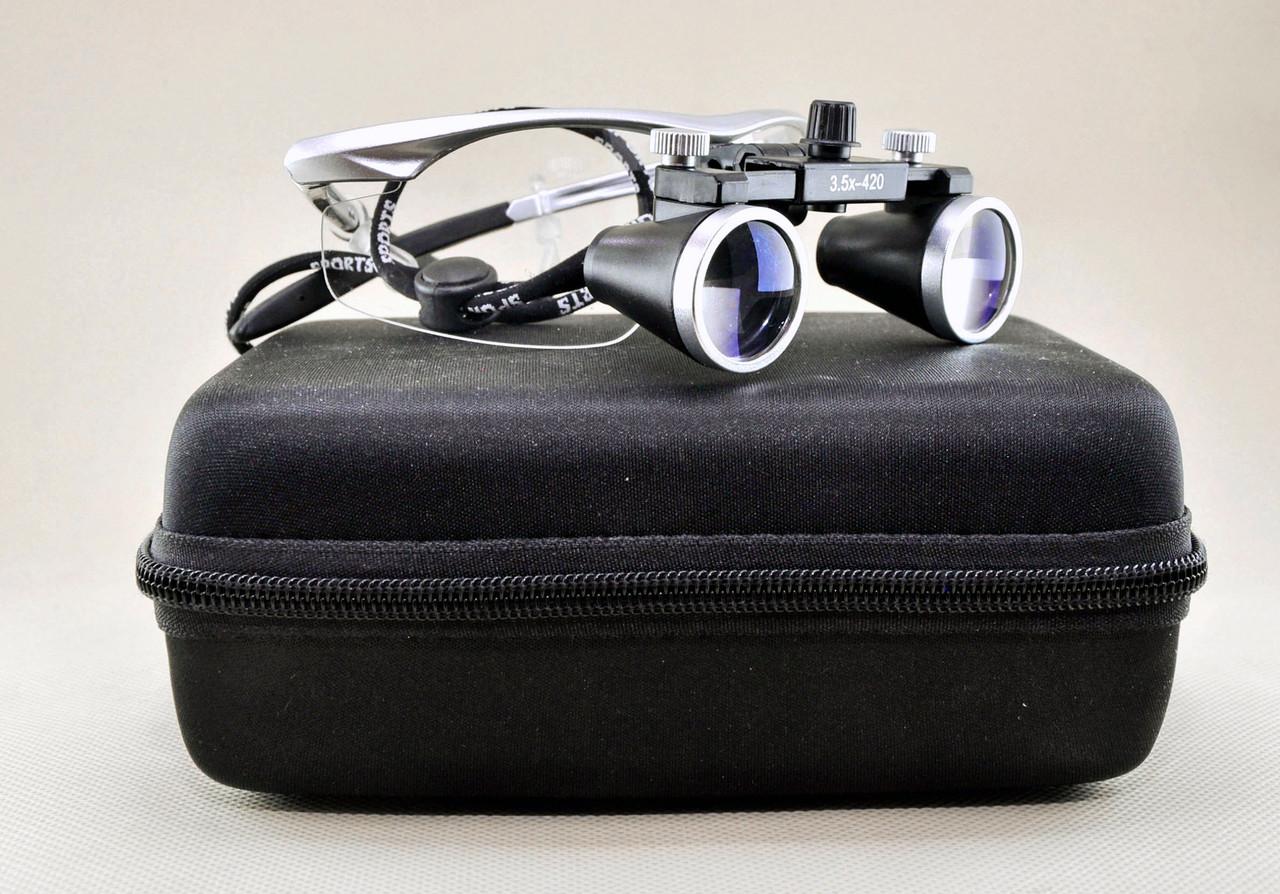 Бинокулярные очки 3.5 x 420 ювелира стоматолога увеличительная оптика лупа линза (OP-005)