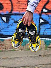 Женские кроссовки в стиле Balenciaga Track Yellow\Black Жёлтые, фото 2