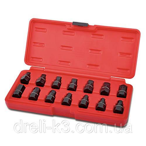 Набор головок для маслосливных пробок TOPTUL 14ед. JGAI1403