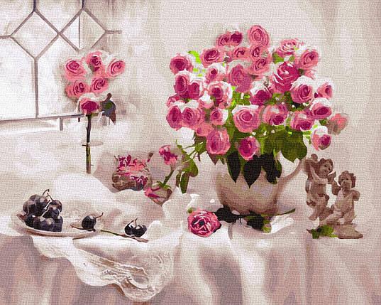 Картина по Номерам Розы и виноград 40х50см RainbowArt, фото 2