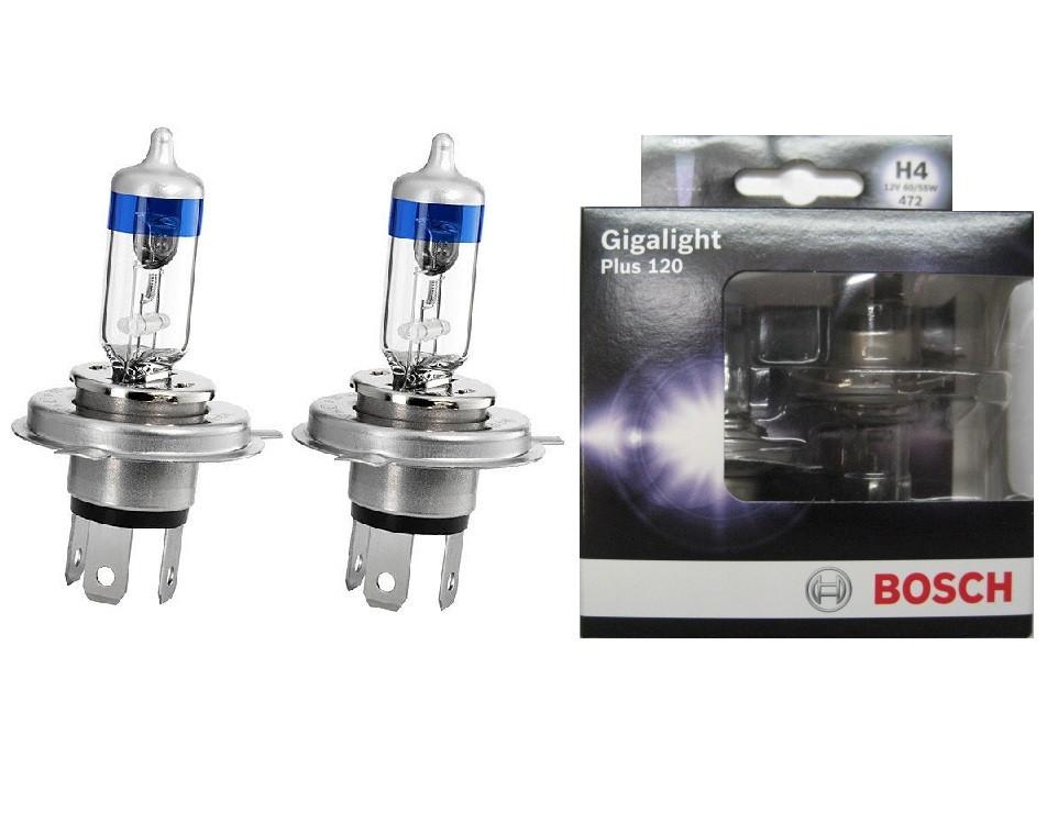 Автомобільні Лампочки Bosch H4 Gigalight +120 комплект 2шт