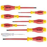 Комплект отверток диэлектрических Tolsen VDE 8 предметов (V32408)