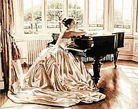 "Картина по номерам ""Девушка за роялем"", 40x50 см, в коробке, арт. X1950"