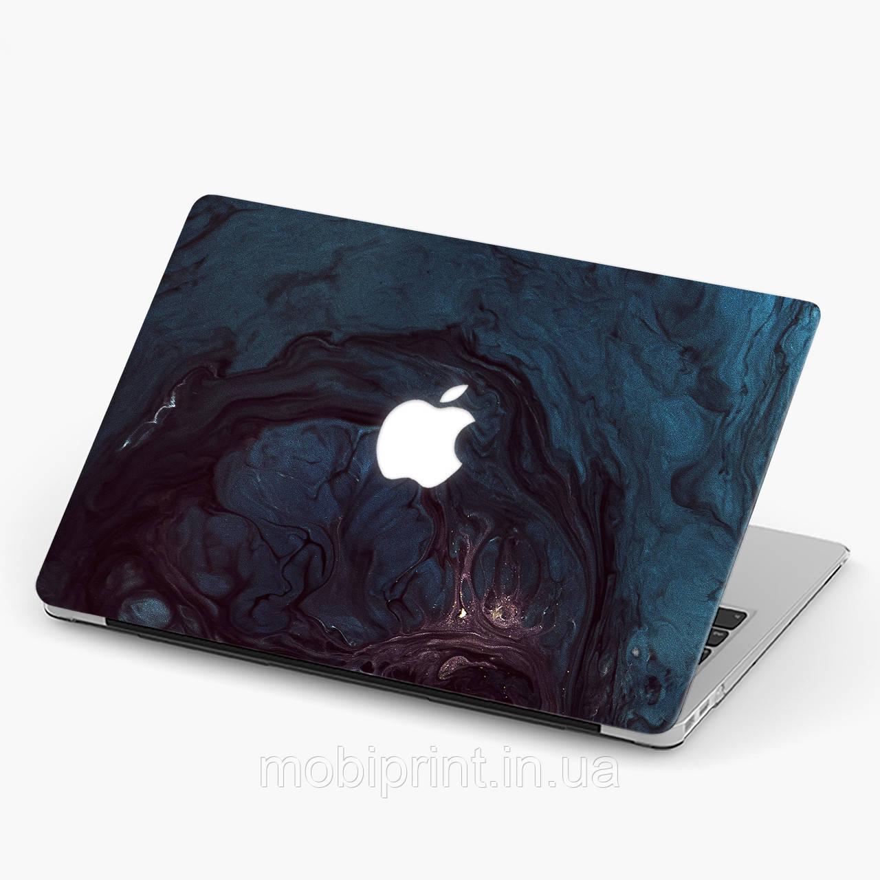 Чехол пластиковый для Apple MacBook Pro / Air Темно-синий мрамор (Dark blue marble) макбук про case hard cover