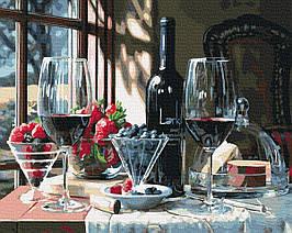 Картина по Номерам Винный десерт 40х50см RainbowArt