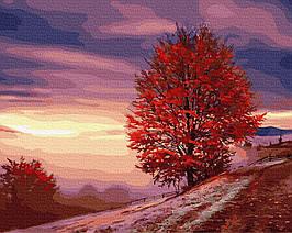 Картина за Номерами Осіннє дерево на схилі 40х50см RainbowArt