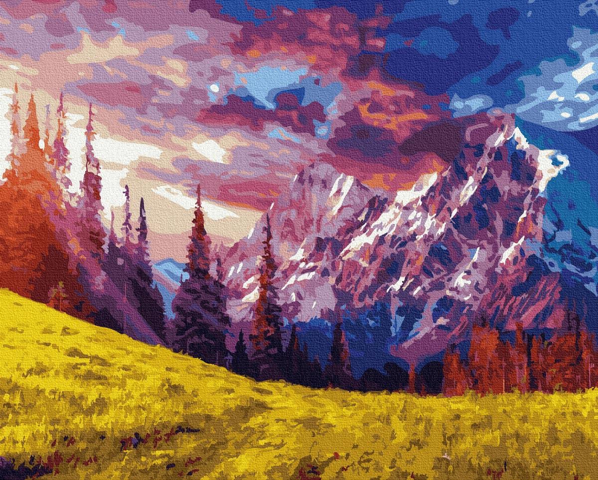 Картина по Номерам Великолепие гор 40х50см RainbowArt