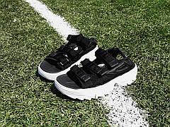 Женские сандалии\босоножки в стиле Fila Disruptor Sandals Black Черные