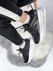 Женские кроссовки в стиле Versace Chain Reaction Black/White, фото 2
