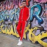 """Спортивний костюм Pobedov """"Easy money"""" Мужской красный с лампасами зима. Олимпийка красная, штаны красные, фото 2"""