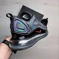 Мужские кроссовки в стиле Nike Air Max 720  Black Violet Hameleon, фото 2