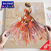 "Картина по номерам ""Танец души"", 40x50 см, в коробке, арт. X2068"