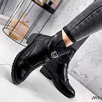 Черевики жіночі Dina чорні 2413 ЗИМА, фото 1