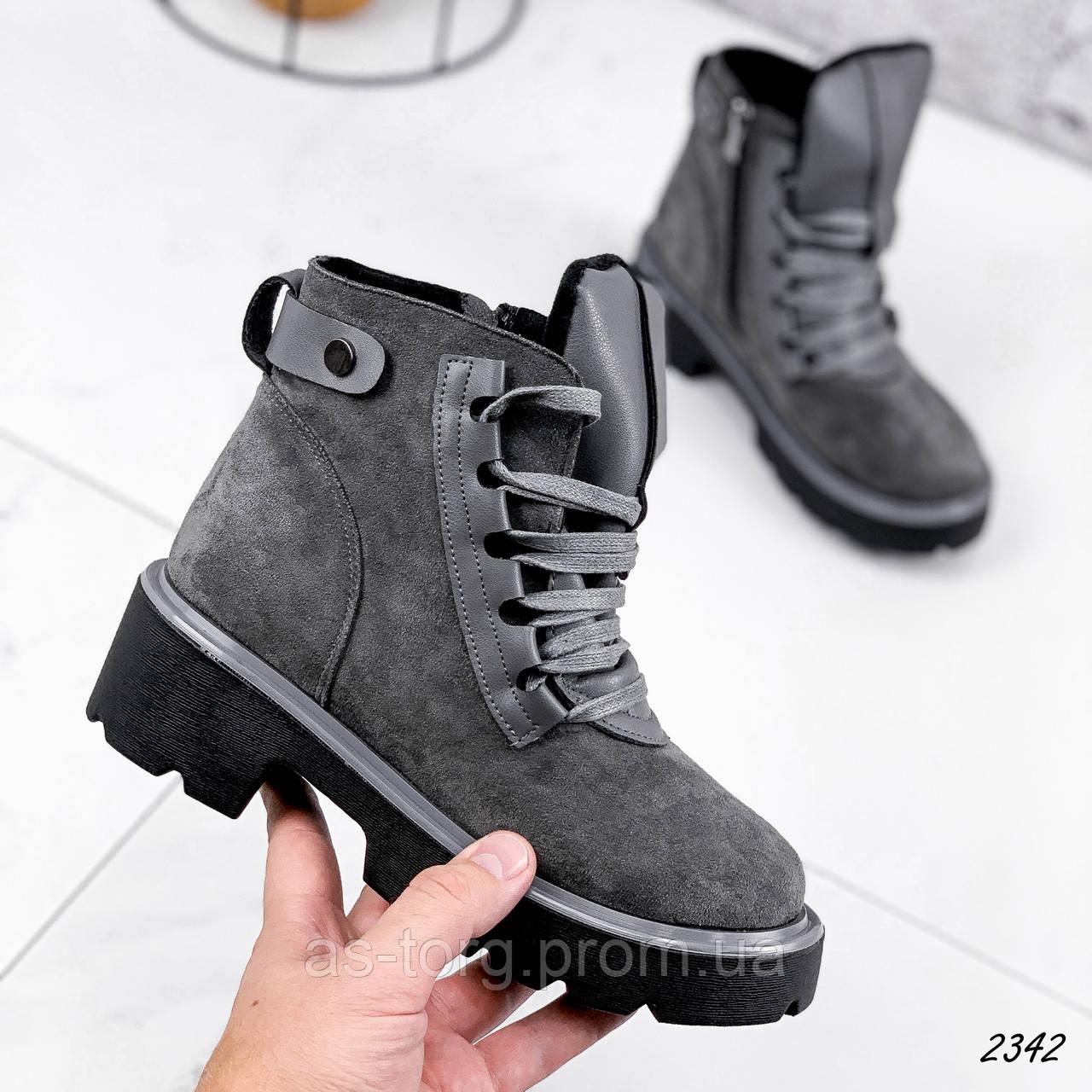 Ботинки женские Tonan серые 2342