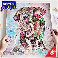 """Картина по номерам """"Алмазный слон"""", 40x50 см, в коробке, арт. X1841"""