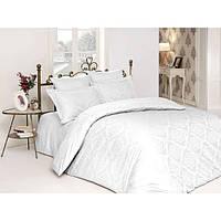 Комплект постельного белья сатин-жаккард Ottoman White SoundSleep евро