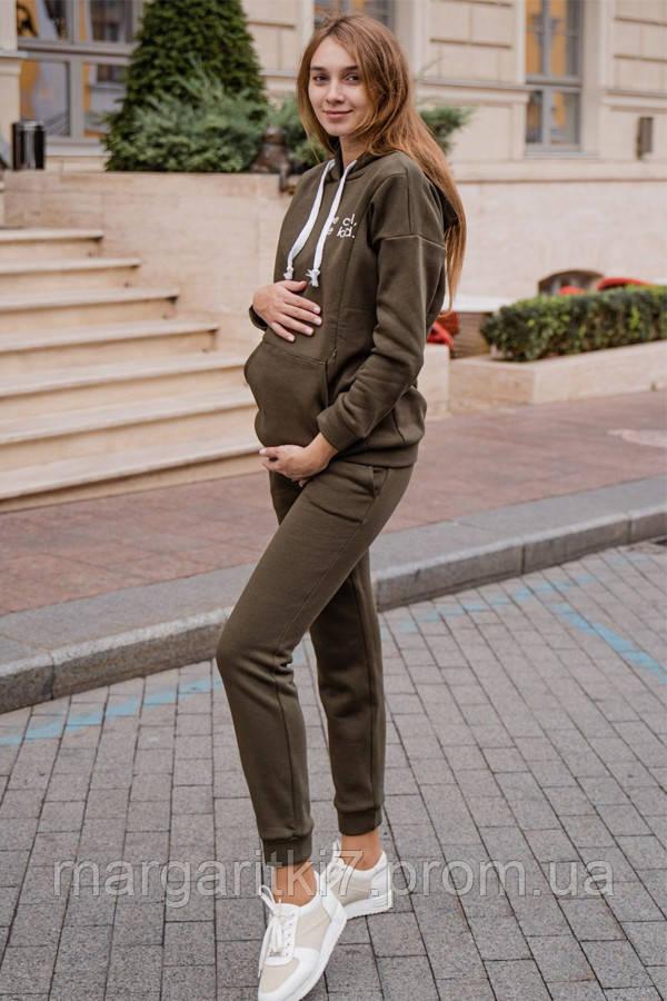 Спортивный костюм для беременных и кормящих To be 4218 хаки