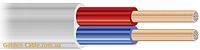 Шнур монтажный ШВВП 2х0.75 завод ЗЗЦМ, провод, плоский, медный, двужильный, заводской