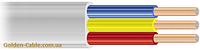 Шнур монтажный ШВВП 3х4 завод ЗЗЦМ, провод, плоский, медный, трехжильный, заводской.