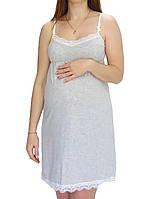 Ночная рубашка для кормления и беременных Лира с кружевом