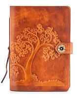 Кожаный блокнот со сменными листами Gato Negro Tree Orange рыжый (кожаный блокнот ручной работы)