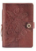 Кожаный блокнот со сменными листами Gato Negro Turtle Brown  коричневый (кожаный блокнот ручной работы)