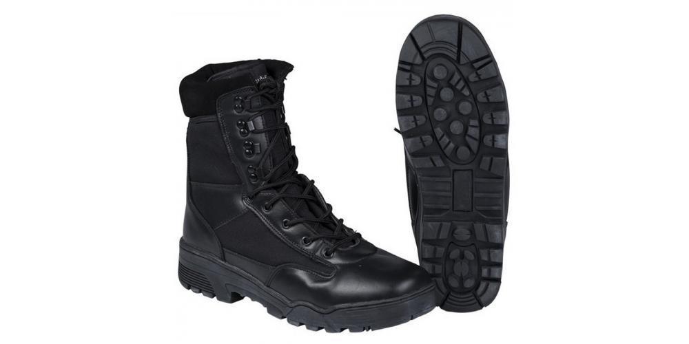 Ботинки MIL-TEC тактические кожа/кордура на молнии чёрные 12822000
