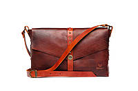 Кожаная сумка женская Gato Negro коричневая (кожаная сумка через плечо, стильные сумки)