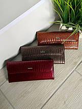 Женский лаковый кожаный кошелёк Balisa Light бронзовый, фото 3