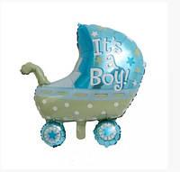 Большой фольгированный шар Party коляска для мальчика
