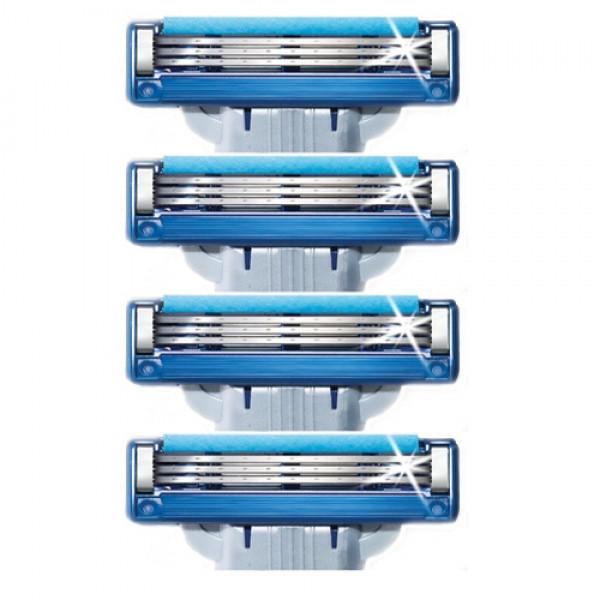 Змінні касети Gillette Mach 3 Turbo, на 3 леза (4шт.) без упаковки