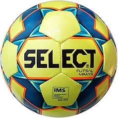 Мяч футзальный Select Futsal Mimas IMS NEW (102) желт/син